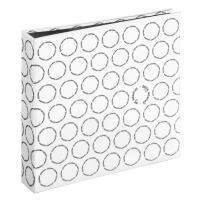 Hama album klasické IVY 30x30 cm, 80 stran, bílá, černé listy