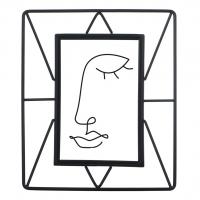 Hama portrétový rámeček Flint, 10x15 cm, černý matný