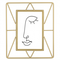 Hama portrétový rámeček Flint, 10x15 cm, zlatý matný