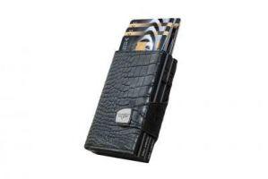 Twin Wallet Click & Slide - leath. Croco Black