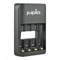 Nabíječka Jupio USB 4-slots Battery Charger LED pro 1 až 4ks AA/ AAA baterií