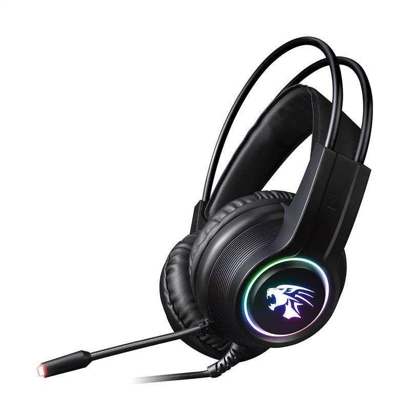 Omega VARR RGB herní sluchátka s mikrofonem 2x3,5mm černé VH8030 Platinet