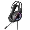 Omega VARR RGB herní sluchátka s mikrofonem USB černé VH8010