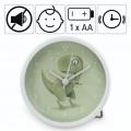 Hama Happy Dino, dětský budík, dinosaurus, tichý chod