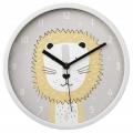 Hama Lucky Lion, dětské nástěnné hodiny, průměr 25 cm, tichý chod