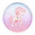 Hama Magical Unicorn, dětské nástěnné hodiny, průměr 25 cm, tichý chod