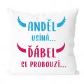 Anděl usíná - vtipný polštář